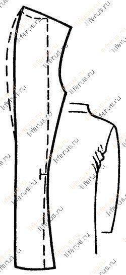Недостаточно выпуклая форма верхней части спинки