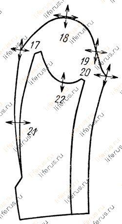 Схема размещения важнейших конструктивных точек: в - рукава